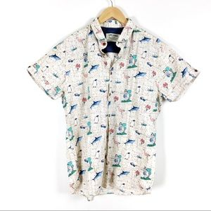 3508788b Jack and Jones Shirts - JACK & JONES men's short sleeve shirt Hawaiian XL